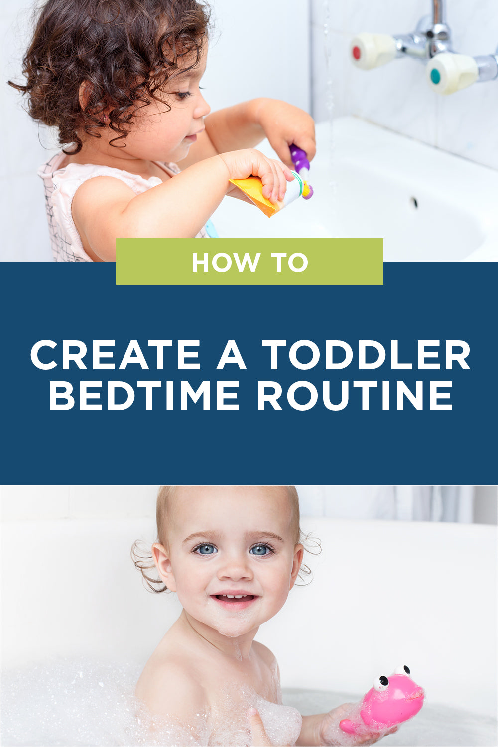 how to create a toddler bedtime routine they'll remember