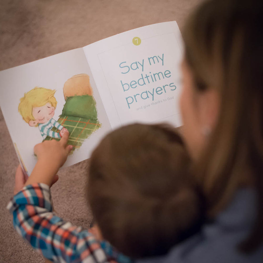 teaching bedtime routine with a children's book
