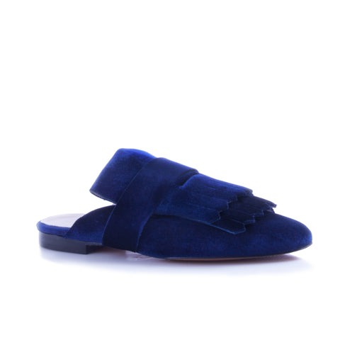 Fancy Mule Deep Blue Velvet