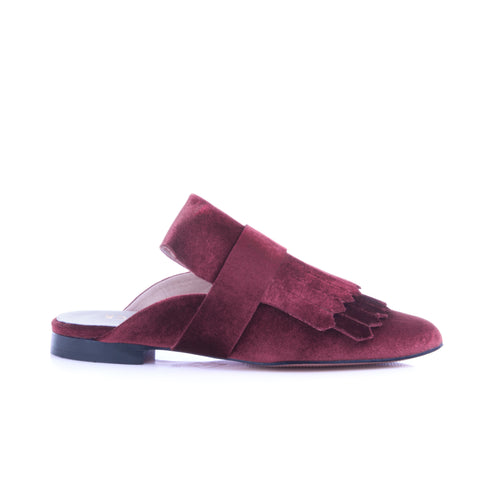 Fancy Mule Burgundy Velvet