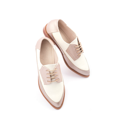 Light Derby Off White & Rose Gold