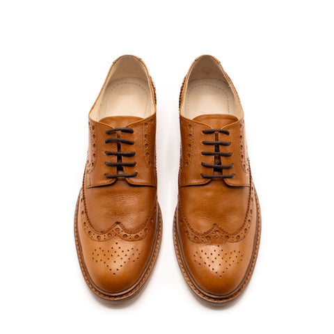 Mere Brogue Oxford Honey
