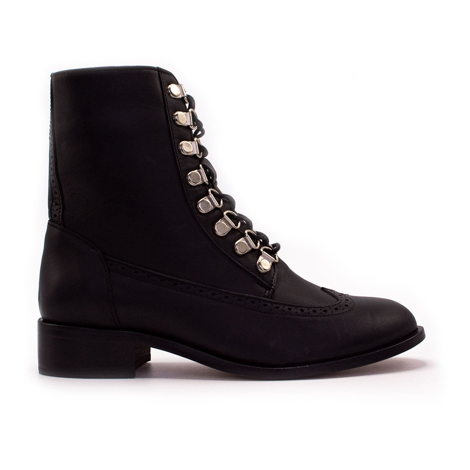 Lug Combat Boot Black