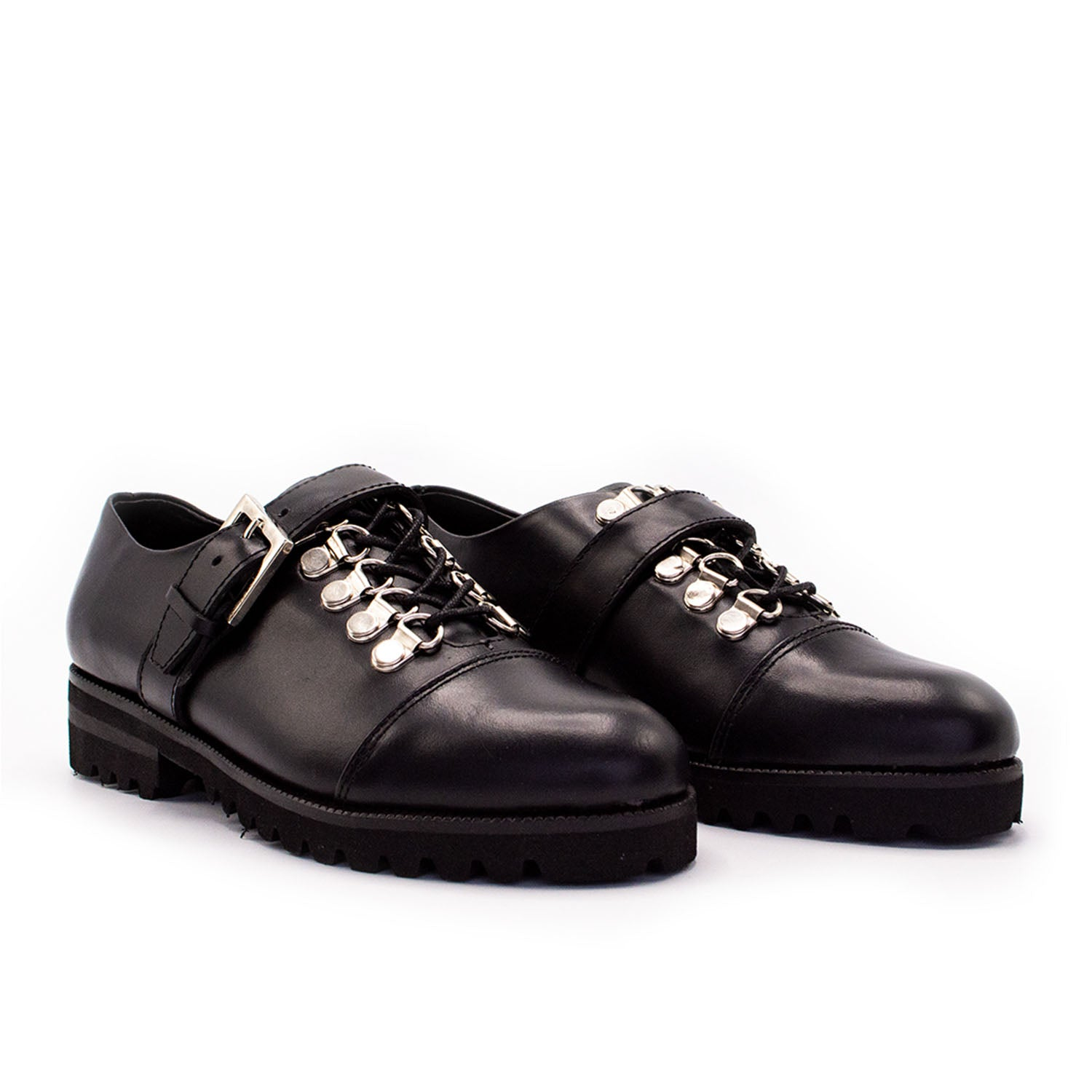 Lug Oxford Shoe Black