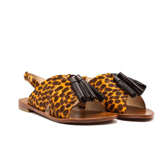Lively Sandal Orange Leopard