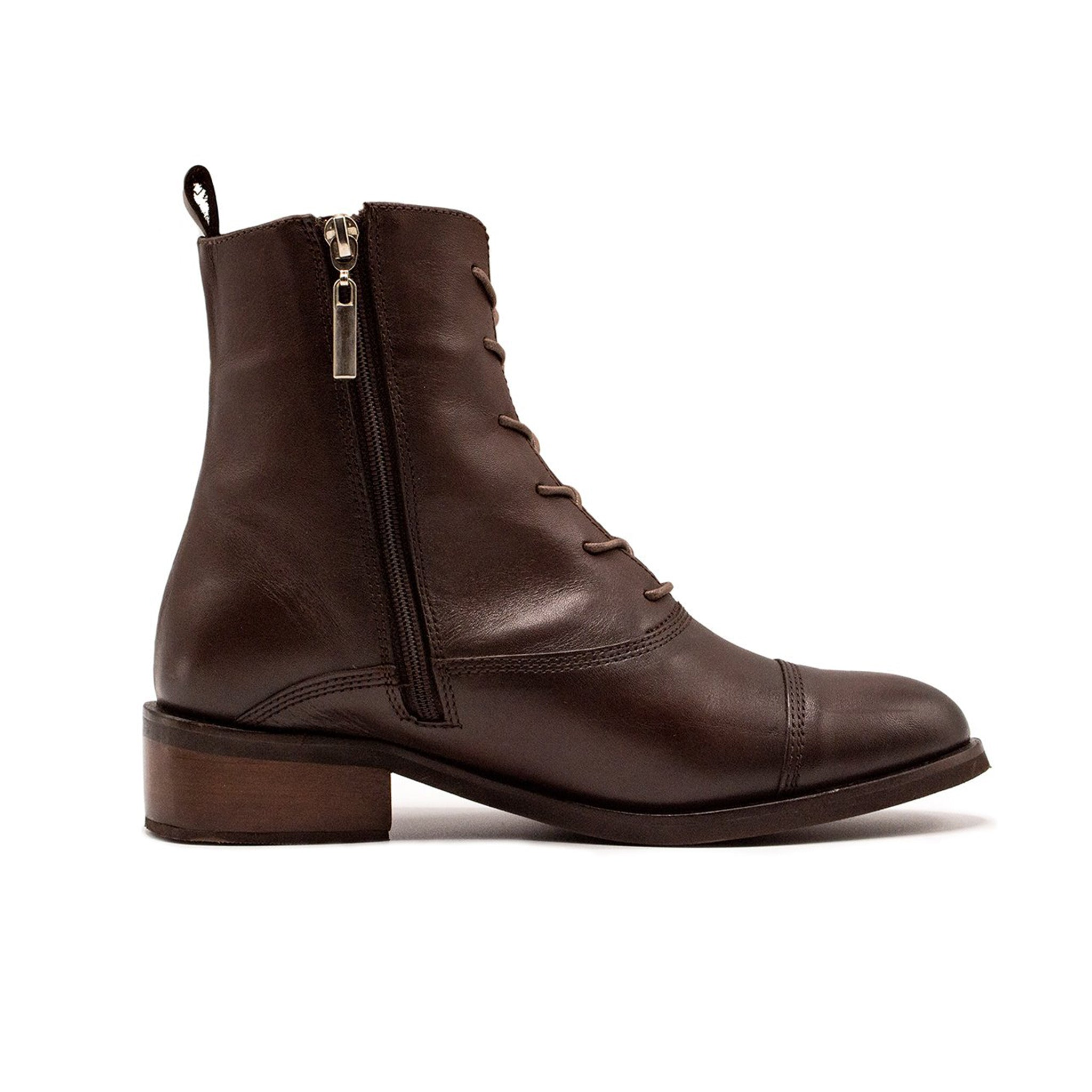 Slim Lace-up Boot Brown