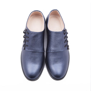 Solid Derby Metallic Blue