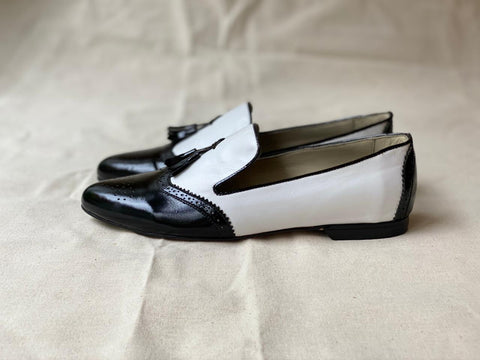 Hearty Loafer White and Black Talla 37