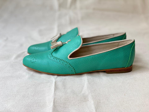 Hearty Loafer Turquoise and Beige Talla 37