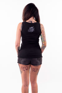 Middle Finger Skull Tank Top