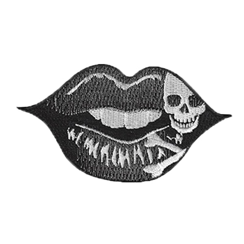 Lip Skull Tattoo Embroidered Patch