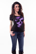 Purple Lace Skull Tee Shirt