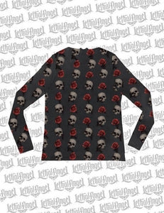 Floating Skulls Sheer Long Sleeve Shirt