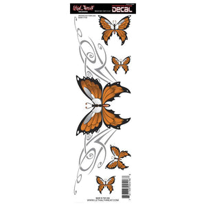 Orange Butterfly Decal