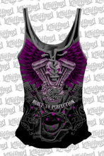 V-Twin Skull Lace Up Tank Top