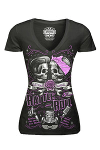 Rattle And Roll V-Neck Tee