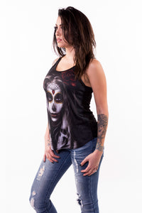 Skull Arm Tattoo Razor Back Tank Top