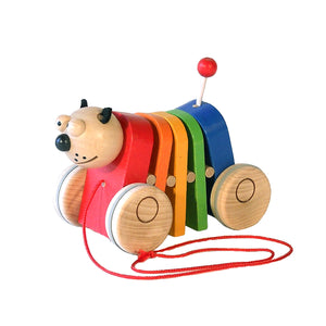 Rainbow Cat Pull Along - U+ME Wooden Toys