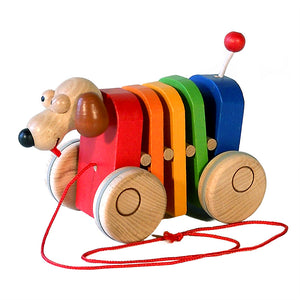 Rainbow Dog Pull Along - U+ME Wooden Toys