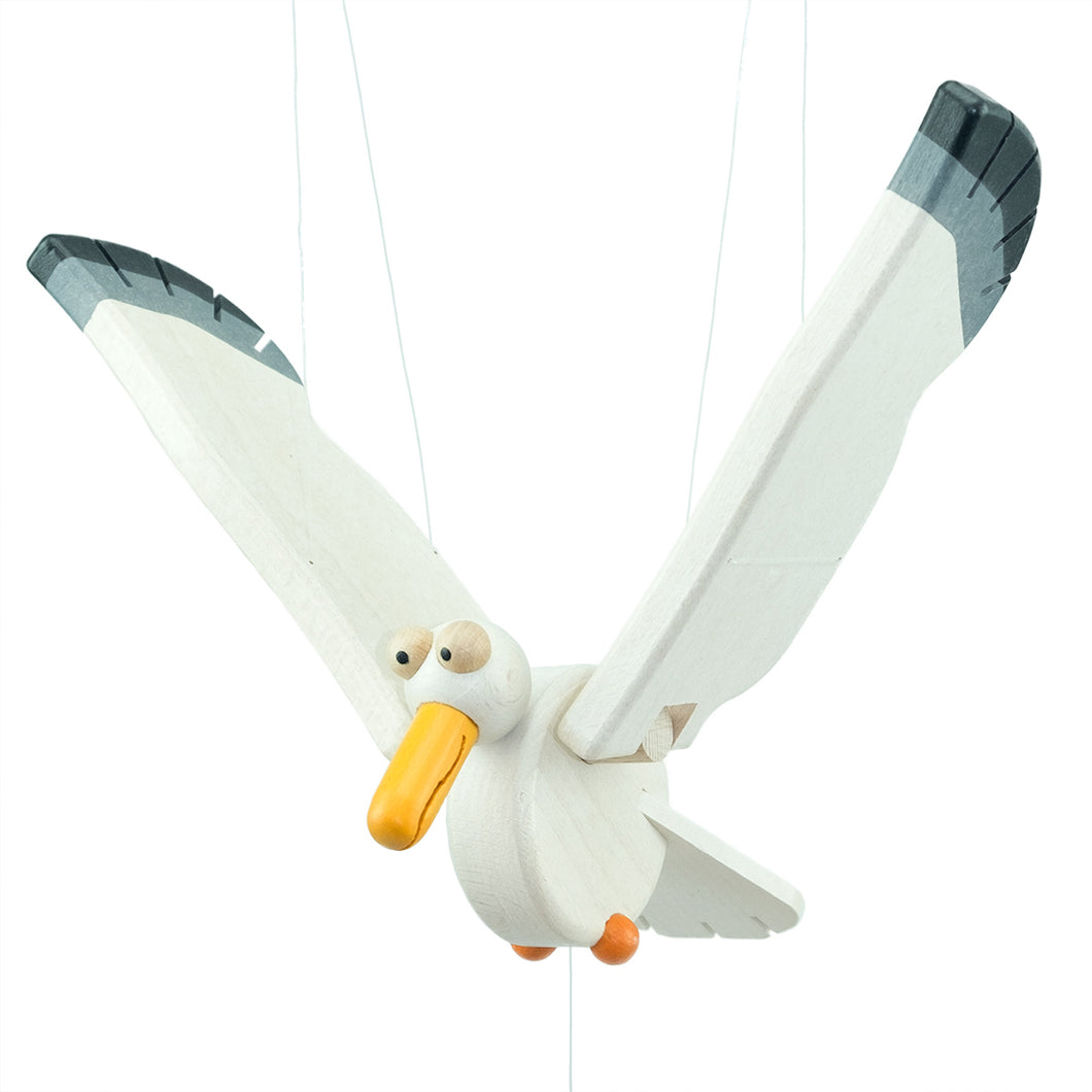 Flying Swinging Seagull - U+ME Wooden Toys
