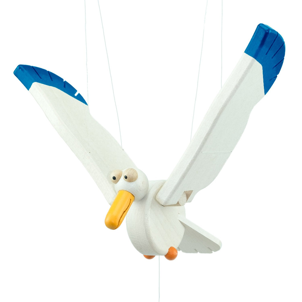 Flying Swinging Seagull Alby - U+ME Wooden Toys