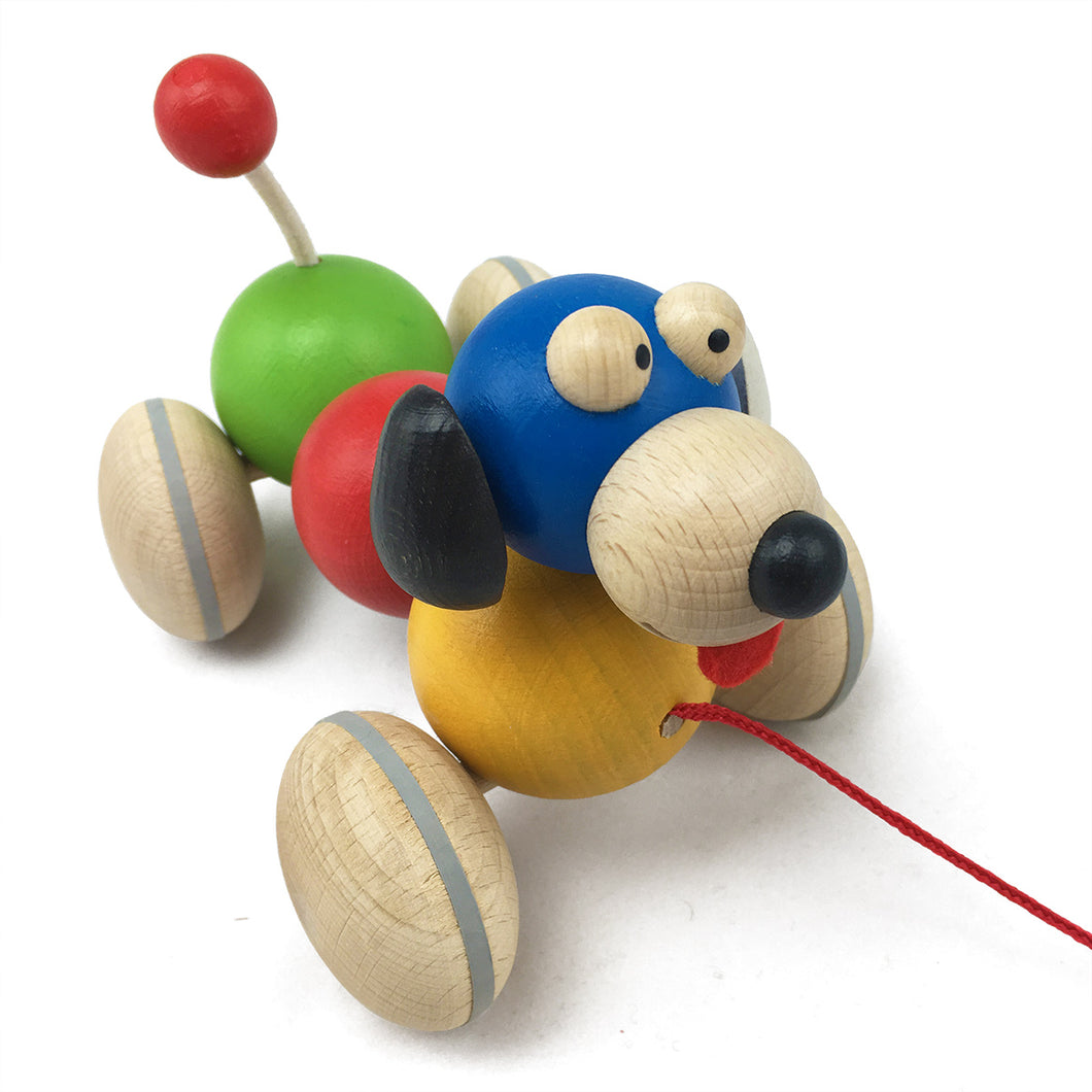 Wiggly Rainbow Dog - U+ME Wooden Toys