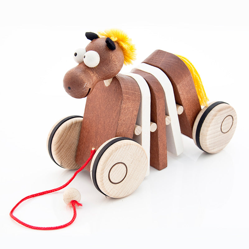 Horse Pull Along - U+ME Wooden Toys