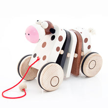 Spotty Cow Pull Along - U+ME Wooden Toys