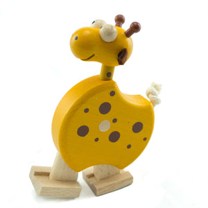Giraffe with Ramp - U+ME Wooden Toys