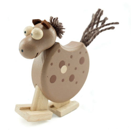 Brown horse with Ramp - U+ME Wooden Toys