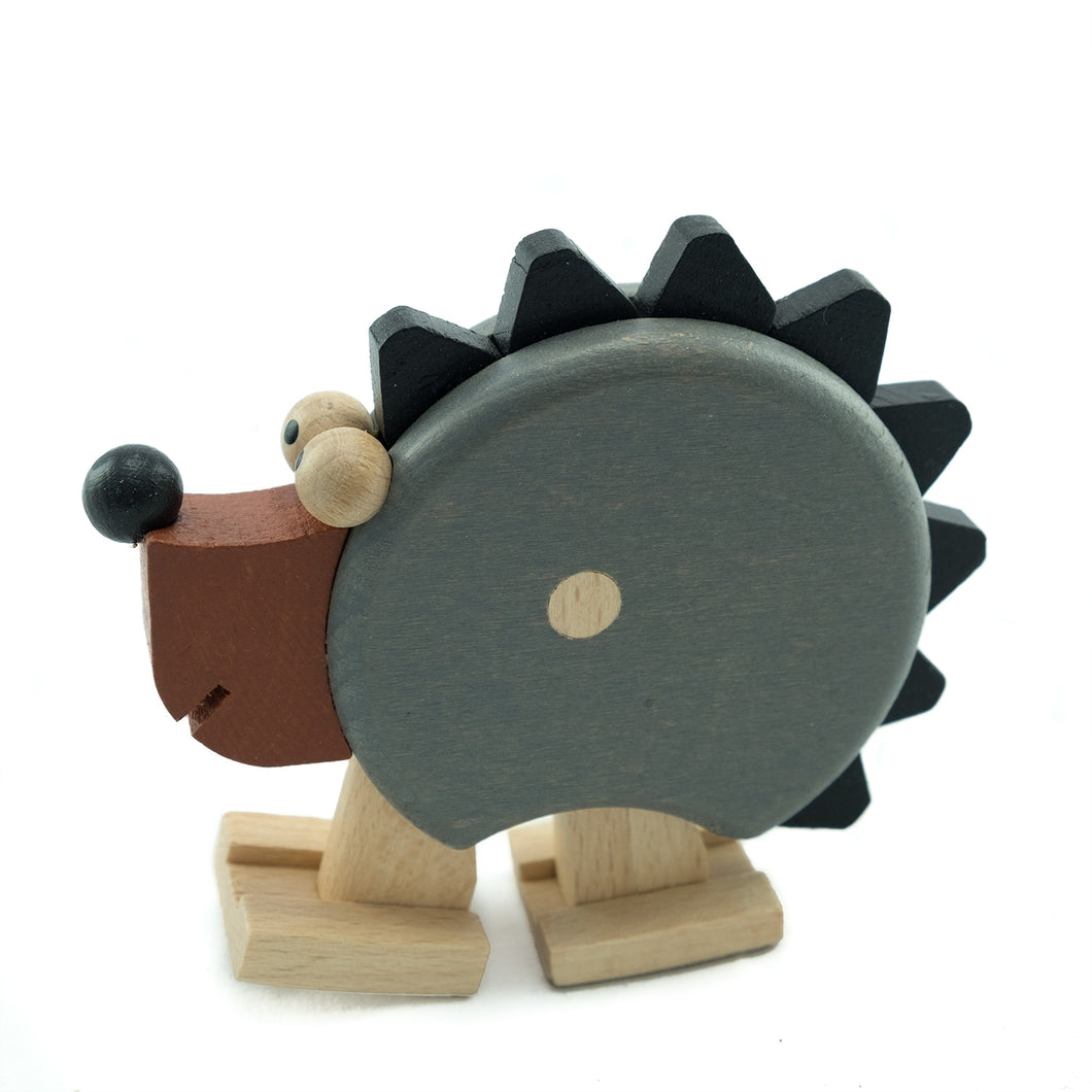 Spiky Hedgehog with Ramp - U+ME Wooden Toys