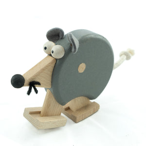 Mouse with Ramp - U+ME Wooden Toys