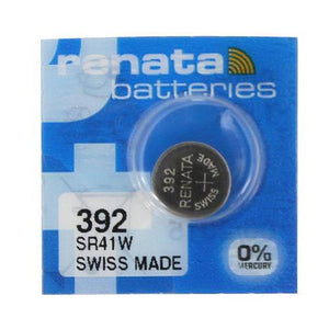 Renata 392 45mAh 1.55V Silver Oxide Coin Cell Battery - Watchbatteries