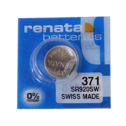 Renata 371 35mAh 1.55V Silver Oxide Coin Cell Battery - Watchbatteries