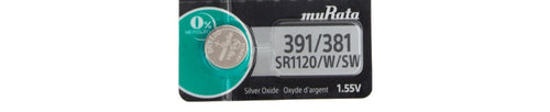 Murata (Replaces Sony) 391/381 SR1120W40mAh 1.55V Silver Oxide Watch Battery
