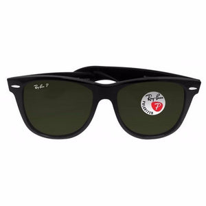 Ray Ban Polarized Wayfarer Sunglasses Black, 2140 901/58 (54 mm) - Watchbatteries