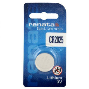 Renata CR2025-CU 165mAh 3V Lithium Primary (LiMNO2) Coin Cell Battery - Watchbatteries