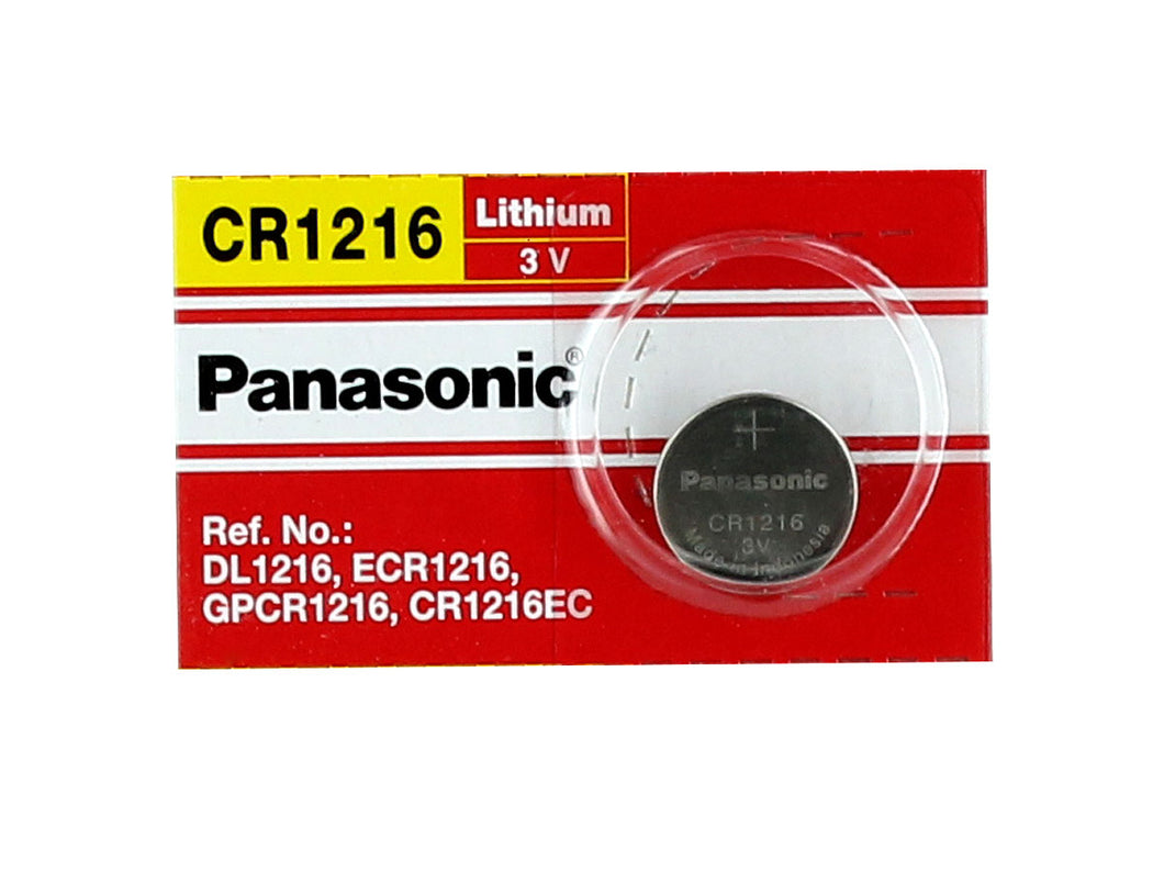 Panasonic CR1216 25mAh 3V Lithium (LiMnO2) Coin Cell Battery - Watchbatteries