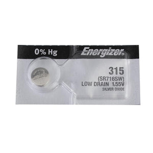 Energizer 315TZ Silver Oxide Coin Cell Batteries 1.55Volts SR716SW - Watchbatteries