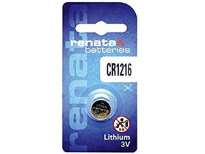 Renata CR1216 25mAh 3V Lithium Primary (LiMNO2) Coin Cell Battery