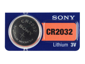 Sony CR2032 220mAh 3V Lithium (LiMnO2) Coin Cell Watch Battery - Watchbatteries