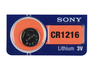 Sony CR1216 30mAh 3V Lithium (LiMnO2) Coin Cell Watch Battery - Watchbatteries