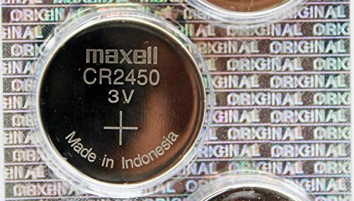 Maxell CR2450 620mAh 3V Lithium Primary (LiMNO2) Coin Cell Battery - Watchbatteries