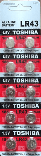 Toshiba LR43 Alkaline Battery (Ten Pack) - Watchbatteries