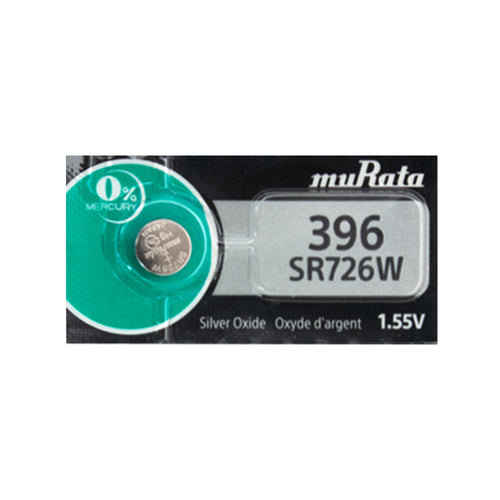 Murata (Replaces Sony) 396 SR726W 35mAh 1.55V Silver Oxide Watch Battery