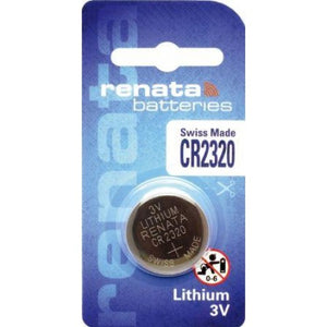 Renata CR2320-CU 150mAh 3V Lithium Primary (LiMNO2) Coin Cell Battery - Watchbatteries