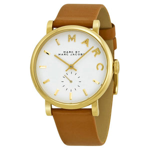 Marc Jacobs Womens MBM1316 Baker Brown Leather Watch - Watchbatteries