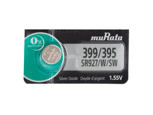 Murata (Replaces Sony) 399/395 SR927W 52mAh 1.55V Silver Oxide Watch Battery