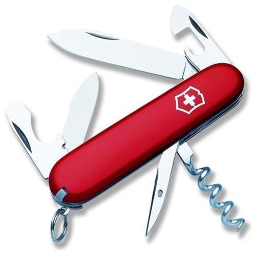 Victorinox Swiss Army 53131 Tourist Folding Pocket Knife Red - Watchbatteries
