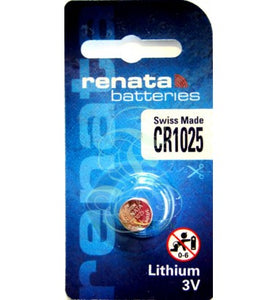 Renata CR1025-CU 115mAh 3V Lithium Primary (LiMNO2) Coin Cell Battery - Watchbatteries